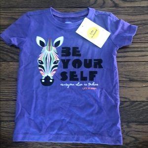 Life is Good Toddler Zebra T-Shirt